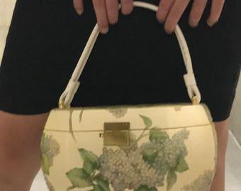 "Vintage Beauty ""Box"" Purse (grape embellishment)"