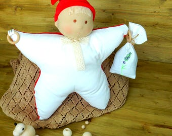 Waldorf Doll Baby Soft Doll With Aromatic Sachet For Babies Rag Doll For Infant Waldorf Inspired Doll Role Play Nature Toy Organic Toy Eco