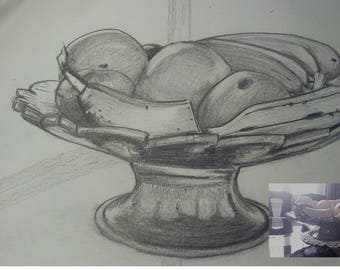 Bowl of fruit (an example of realistic reproduction)