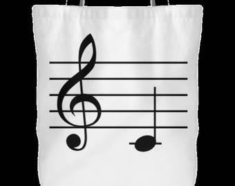 White Tote Bag w/ C Note Logo