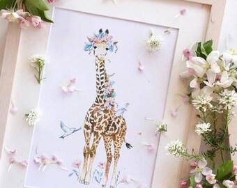 Giraffe print (Spring Giraffe)