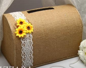 Wedding Post Box Sunflower Decor Rustic Ideas Card Money
