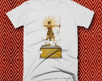 Taking Aim at the Patriarchy Award - Women's Feminist Shirt In White, Navy Blue, Turquoise S M L XL