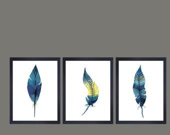 Feathers minimalist wall art feathers print scandinavian wall decor scandi print nordic wall decor minimalist print scandi wall art