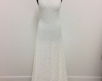 Wedding dress low cowl back with slight train. Perfect Autumnal gown