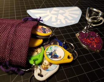 1 Day Ship 18 Amiibo NFC Waterproof Keychain Card Tags Zelda Breath of the Wild Wii U Switch Twilight Majoras Anniversary Ocarina of Time