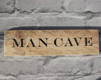 Man Cave Sign | Man Cave Rules | Man Cave wooden | Man cave decoration | man cave plaque | gift for dad  | man cave personalised |