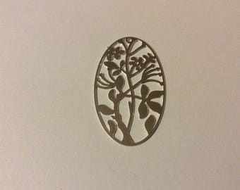 1 silver Filled 24 * 40 mm oval print