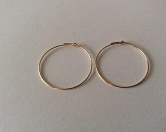 Hoop earrings decorate 30 * 0, 7mm 14 k gold filled
