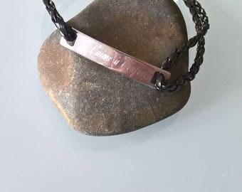 Bracelet men engraved custom message/name front and back