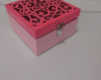 Decorative Pink Keepsake Box