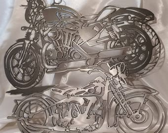 Attirant Metal Motorcycle, Motorcycle Wall Art, Motorcycles, Double Layered  Motorcycle, Layered Motorcycles