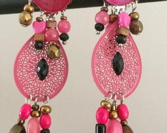 long dangle pierced earrings