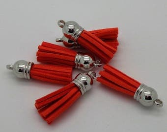 Orange tassel suede 35mm