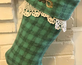 Romantic Vintage Shabby Chic Christmas Stocking