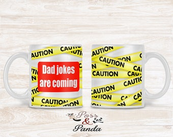 Dad Jokes Mug novelty gift for him gift for dad personalised for him fathers day gift christmas gifts