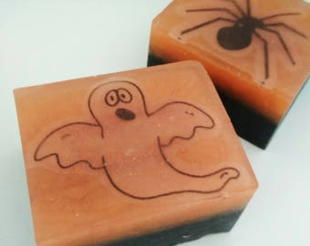 Halloween set - Halloween soap - Halloween party favor - Ghost soap - Spider soap - Kids soap - Halloween gift - Natural soap