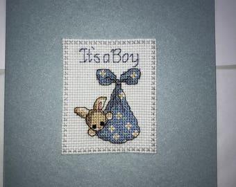 New Baby Card Boy
