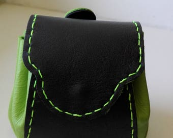 black and green leather purses