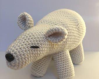 Crochet Polar Bear Stuffed Animal Amigurumi