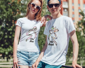 Her Buck - His Doe Nice T-Shirts For Couples!