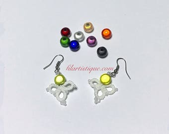 """Leprechaun"" by Filartistique tatting lace earrings"