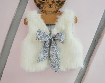 Vest fur and liberty betsy Platinum exclusive baby