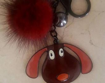Door keys or jewelry bag in mink