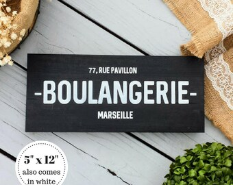 5x12 French Bakery Sign   French Country Decor  Boulangerie Sign   Rustic  Kitchen Decor