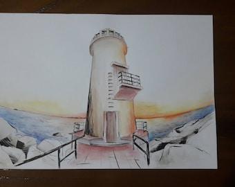 Lighthouse | original painting