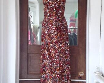 1970s Maxi Halter Dress