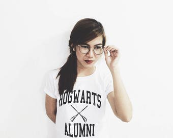hogwarts alumni harry potter tumblr shirt hipster grunge instagram tshirt with sayings slogan funny shirts teens girls aesthetic graphic tee