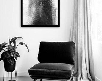 Monochrome Art Print, Black White Grey Art, Watercolor Art, Modern Art, Home Decor, Wall Art, Abstract Art Print, Printable Art, Instant Art