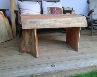 FT Table.  Country solid mahogany coffee table.