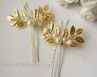 Gold Hair Pins Wedding Hair Pin Wedding hair clip Bridal Gold Hair Accessories