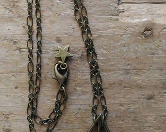 Harry Potter Deathly skull color Bronze necklace