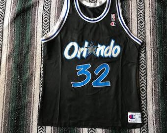 Vintage NBA Orlando Magic Shaquille O'neal Champion Jersey Size 44