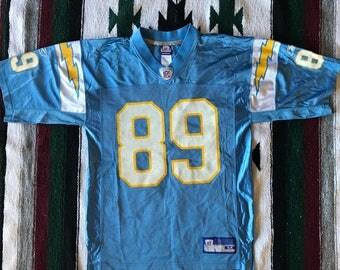 Reebok NFL San Diego Chargers David Boston Football Jersey Size M