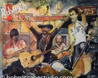 """Honky Tonk Band 8""""x10"""" Print + Matte"""