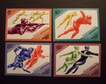 USSR Postage Stamp Set**Winter Olympic Games**  1984 Sarajevo, Yugoslavia [Set of 4 stamps - Set]*MNH