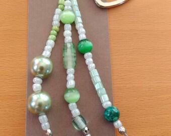Emerald charm keychain
