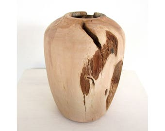 Wood vase, modern vase, design vase, amphora vase, centerpiece, handmade vase, decorative vase, wooden art, interior vase