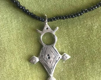 Tuareg silver cross necklace from Morocco/Northern Africa