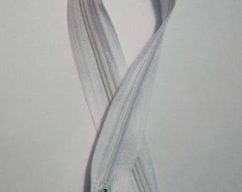 30 cm white nylon zipper