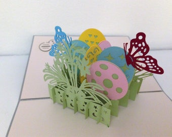 Handmade 3D pop up popup Easter card origami kirigami papercraft handicraft friendship birthday Valentines Easter mother's day father's day