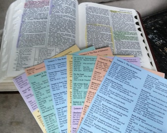 Missionary Scripture List Stickers