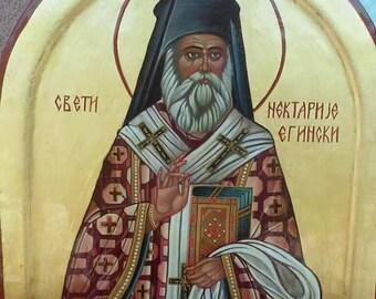 Sv.Nektarije,Ortodox Byzantine icon