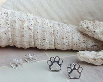 sterling silver paw earringspaw print earringsdog paw earringscat paw earrings