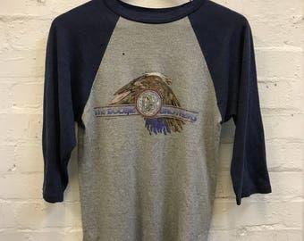 VERY RARE 1970's 70's The Doobie Brothers Tee Baseball T-shirt Concert Band Tee