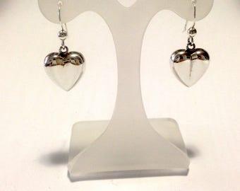 Silver Earrings 925, heart, silver earrings, earth, jewels